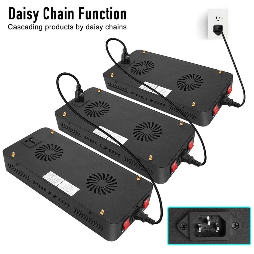 Phlizon Newest 600w Daisy Chain