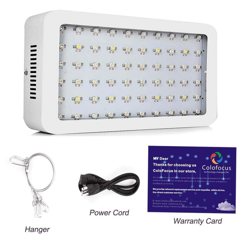 Colofocus 600w LED grow light - package