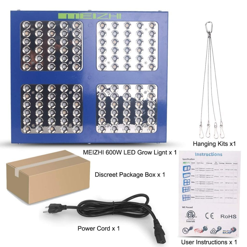 Meizhi LED grow light 600w package