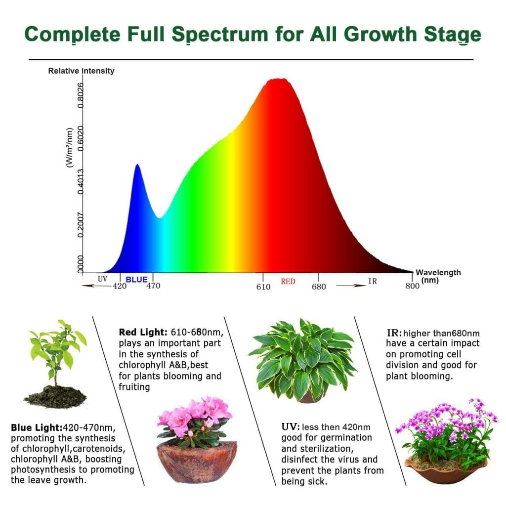 YGROW 600w Light Spectrum