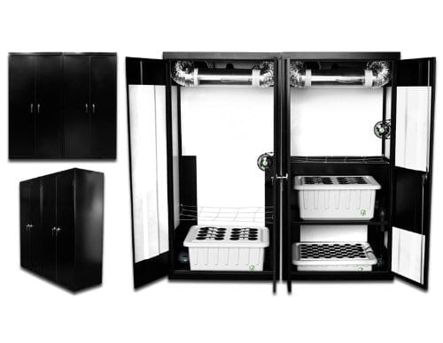 Supercloset Trinity Triple Chamber stealth hydroponic grow cabinet