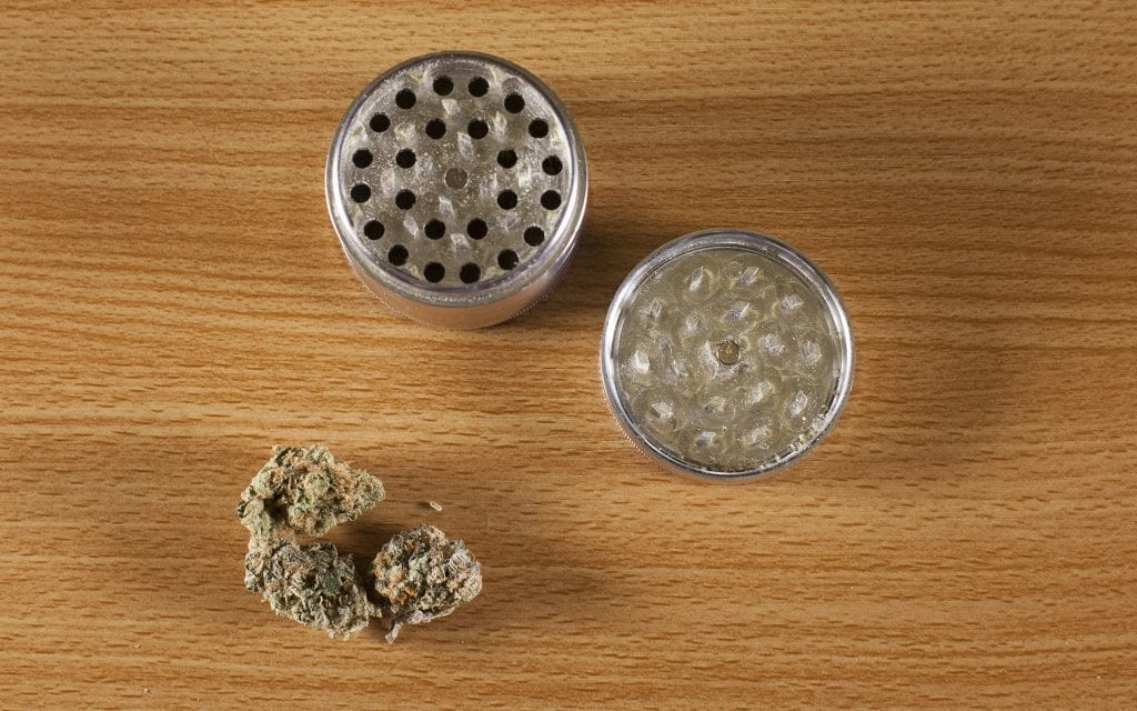 cannabis grinding