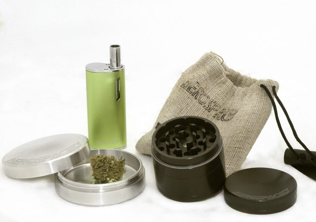 grinding marijuana