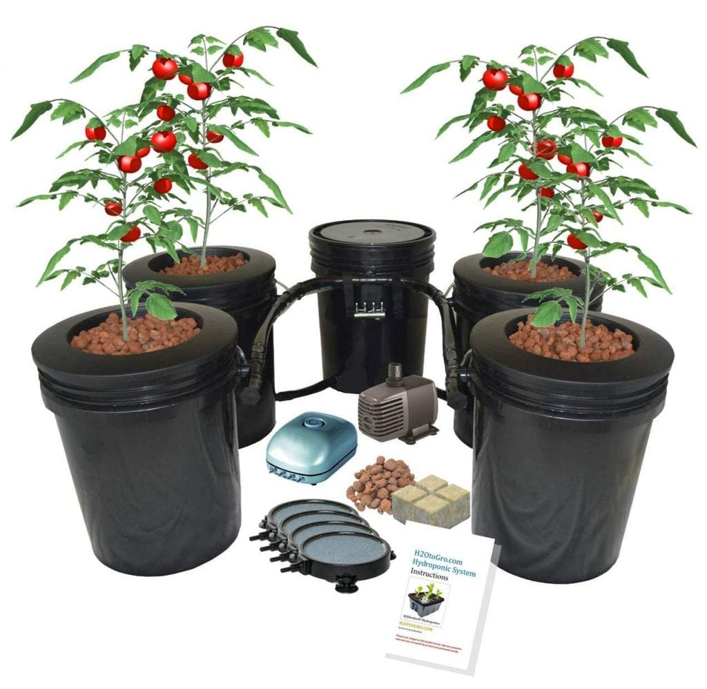 H2OtoGrow Hydroponic Recirculating Deep Water Culture System