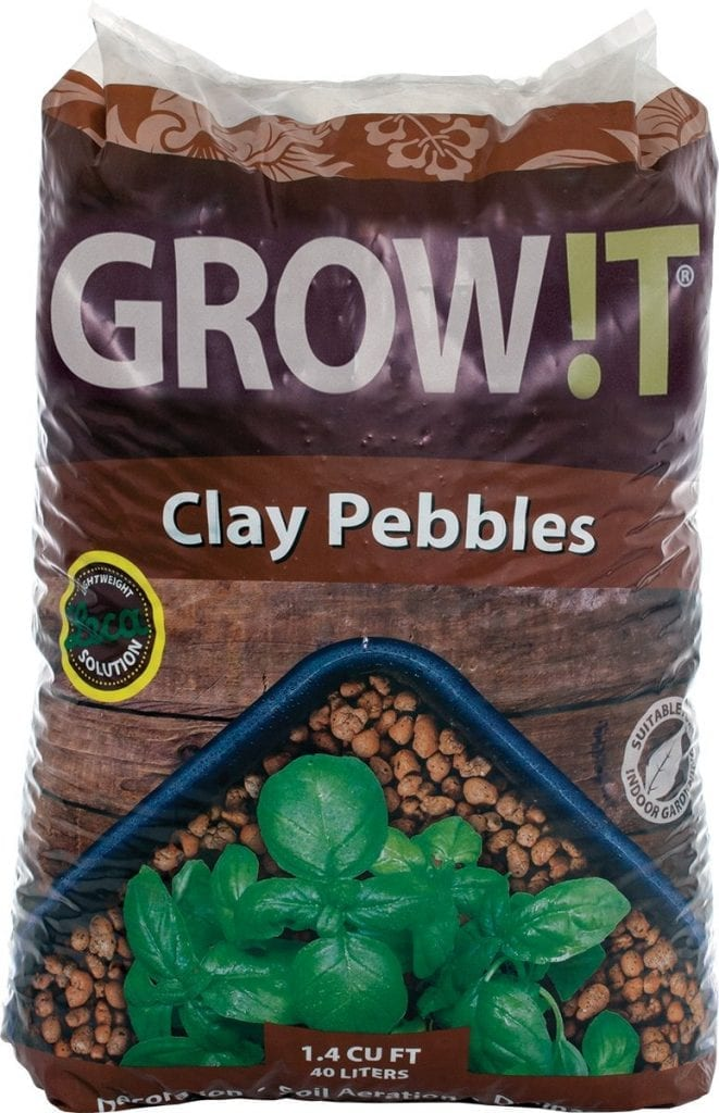 Expanded Clay Pebbles or Leca