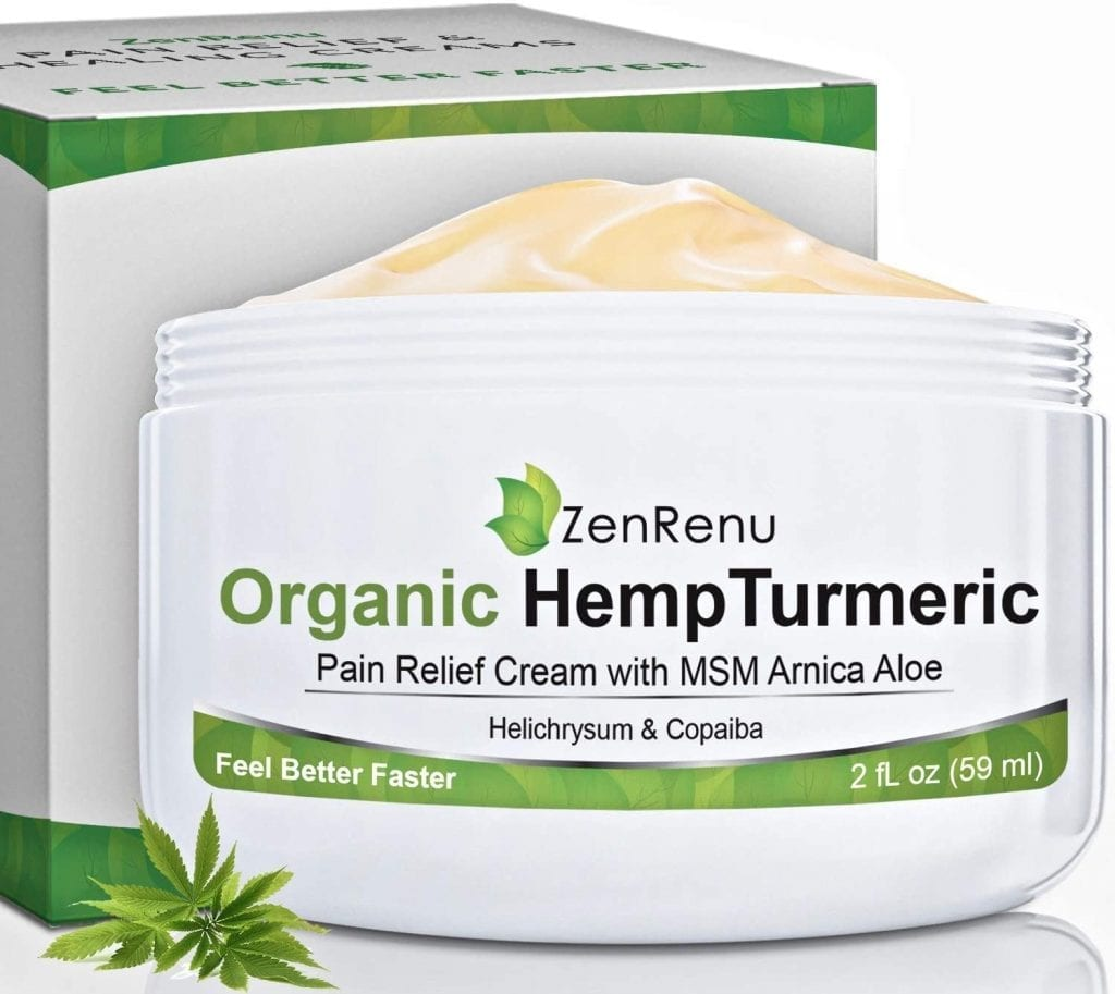 ZenRenu Organic Hemp Pain Relief Cream
